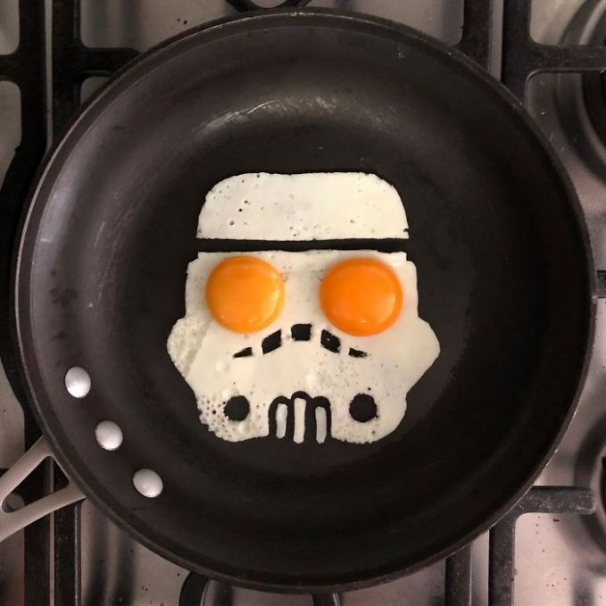 Fried Egg-Storm Trooper for your breakfast!
