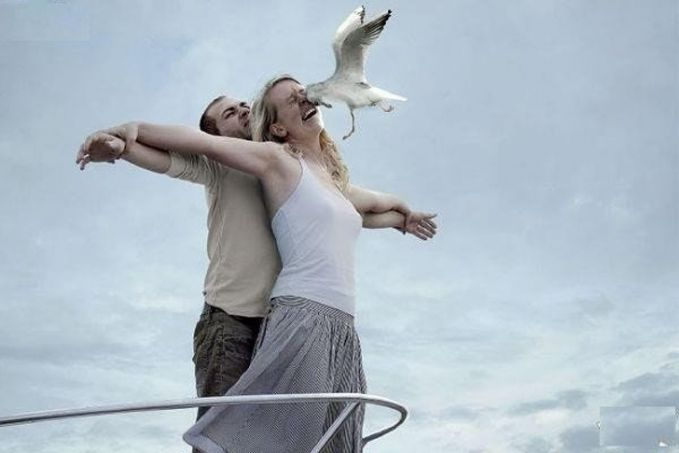 Gagal pose Titanic.