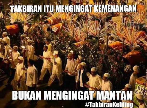 tuh denger quote of the day spesial malam takbir.